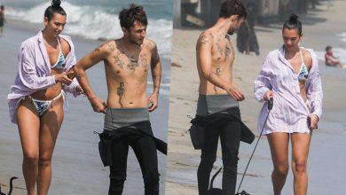 Photo of Dua Lipa ve Erkek Arkadaşı, Deniz Kenarında Yürüyüş Yaptı