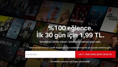 Photo of Netflix'te 30 Günlük Deneme Fırsatı 1,99 TL Oldu